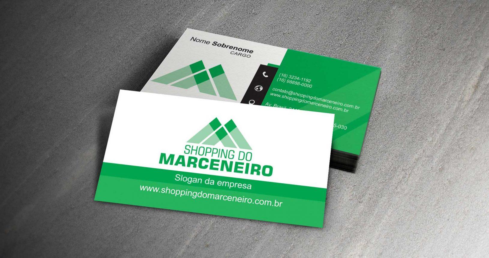 Cartão de visita, identidade corporativa Shopping do Marceneiro